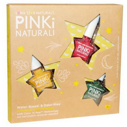 Luna Star Naturals, Pinki Naturali, Starry Sky Dreams, 3 Mineral Nail Polishes 7.5ml Each