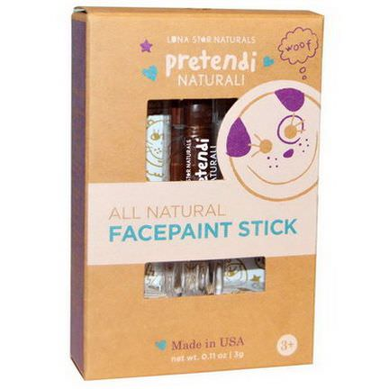 Luna Star Naturals, Pretendi Naturali, All Natural Facepaint Stick, Brown 3g