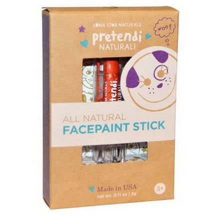 Luna Star Naturals, Pretendi Naturali, All Natural Facepaint Stick, Orange 3g