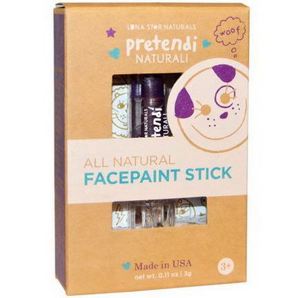 Luna Star Naturals, Pretendi Naturali, All Natural Facepaint Stick, Purple 3g