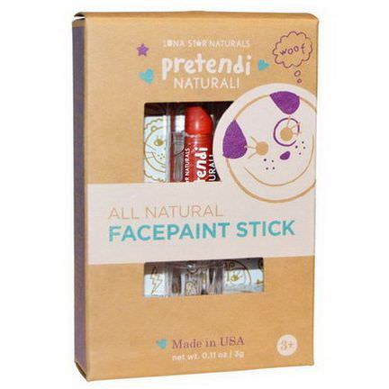 Luna Star Naturals, Pretendi Naturali, All Natural Facepaint Stick, Red 3g