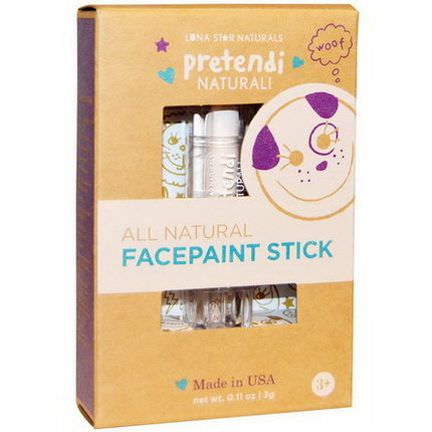 Luna Star Naturals, Pretendi Naturali, All Natural Facepaint Stick, White 3g