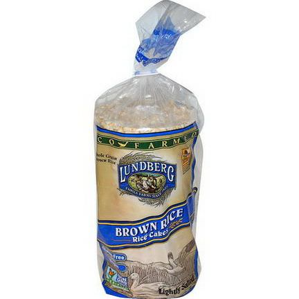 Lundberg, Brown Rice Rice Cakes, Lightly Salted 241g