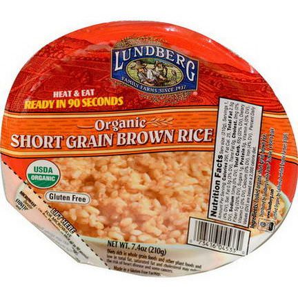 Lundberg, Organic Short Grain Brown Rice 210g
