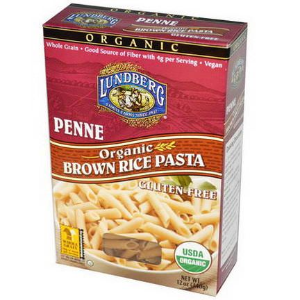 Lundberg, Penne, Brown Rice Pasta 340g