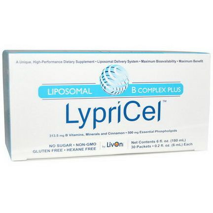 LypriCel, Liposomal B Complex Plus, 30 Packets 6ml Each