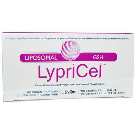 LypriCel, Liposomal GSH, 30 Packets 5.4ml Each