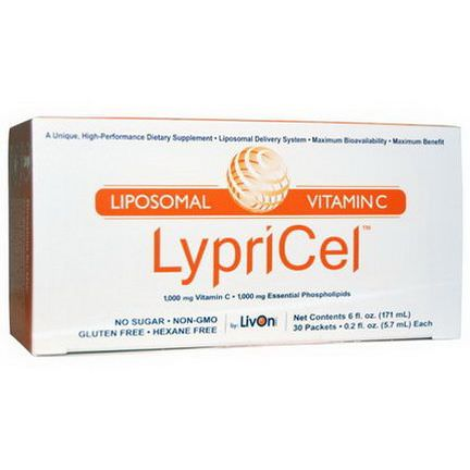 LypriCel, Liposomal Vitamin C, 30 Packets 5.7ml Each