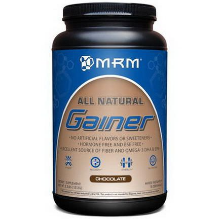 MRM, All Natural, Gainer, Chocolate 1512g