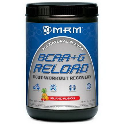 MRM, BCAA+G Reload, Post-Workout Recovery, Island Fusion 330g