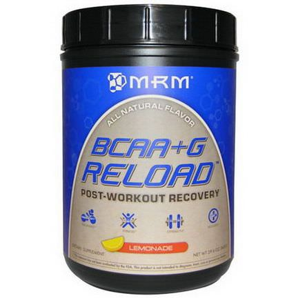 MRM, BCAA G Reload, Post-Workout Recovery, Lemonade 840g