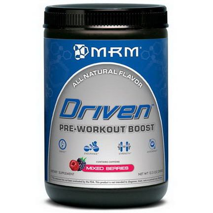 MRM, Driven, Pre-Workout Boost, Mixed Berries 350g