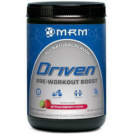 MRM, Driven, Pre-Workout Boost, Strawberry-Kiwi 350g