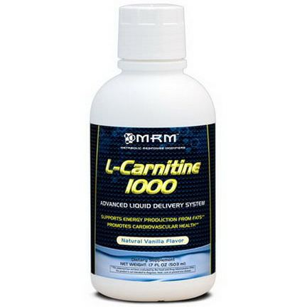 MRM, L-Carnitine 1000, Natural Vanilla Flavor 503ml
