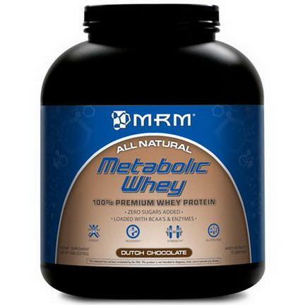 MRM, Metabolic Whey, 100% Premium Whey Protein, Dutch Chocolate 2270g
