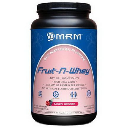 MRM, Natural, Fruit-N-Whey, Mixed Berries 921g