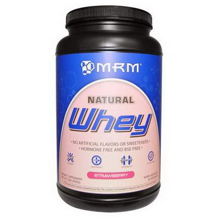 MRM, Natural Whey Protein, Strawberry 908g