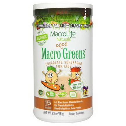 Macrolife Naturals, Macro Coco Greens, Chocolate SuperFood for Kids 95g