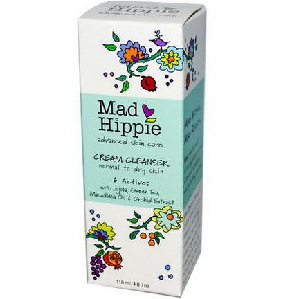 Mad Hippie Skin Care Products, Cream Cleanser, 6 Actives 118ml