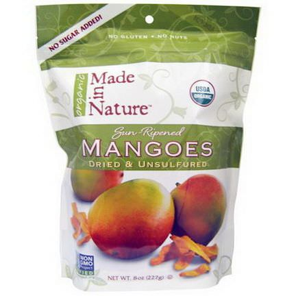 Made in Nature, Mangoes, Dried&Unsulfured 227g