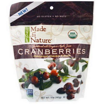 Made in Nature, Organic Dried Fruit, Cranberries 142g