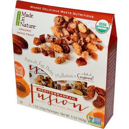 Made in Nature, Organic Dried Fruit, Mediterranean Fusion, 5 Packs 28g Each