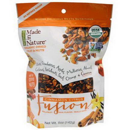 Made in Nature, Organic Dried Fruit&Nuts, Cinnamon Citrus Fusion 142g