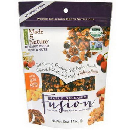 Made in Nature, Organic Dried Fruit&Nuts, Maple Balsamic Fusion 142g