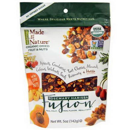 Made in Nature, Organic Dried Fruit&Nuts, Rosemary Harissa, Fusion 142g