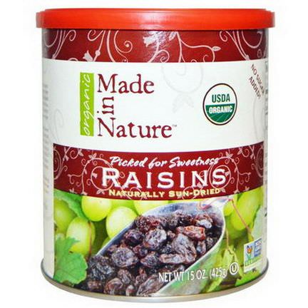 Made in Nature, Organic, Raisins 425g