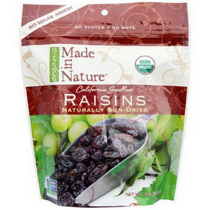 Made in Nature, Organic Raisins 170g