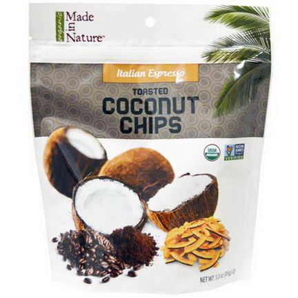 Made in Nature, Organic Toasted Coconut Chips, Italian Espresso 85g