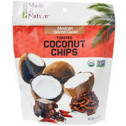 Made in Nature, Organic Toasted Coconut Chips, Mexican Spiced Cacao 85g