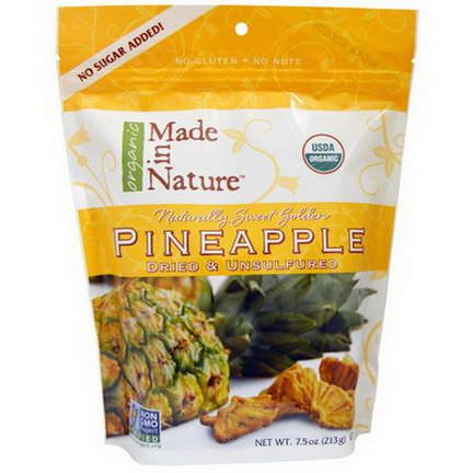 Made in Nature, Pineapple, Dried&Unsulfured 213g