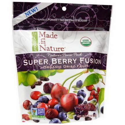 Made in Nature, Organic Super Berry Fusion, Organic Dried Fruit 142g