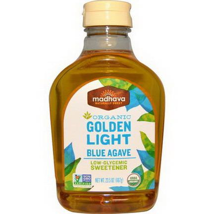 Madhava Natural Sweeteners, Organic, Golden Light, Blue Agave, Low-Glycemic Sweetener 667g