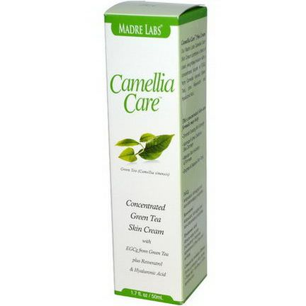 Madre Labs, Camellia Care, EGCG Green Tea Skin Cream 50ml