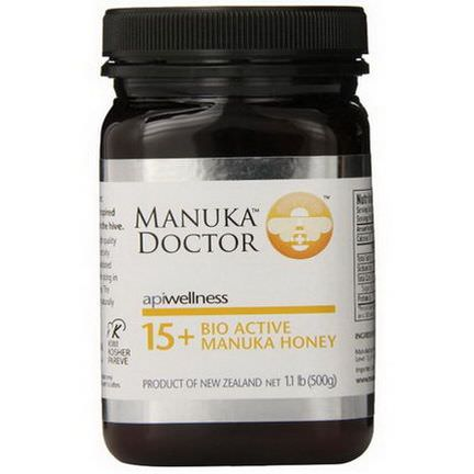 Manuka Doctor, Apiwellness, 15+ Bio Active Manuka Honey 500g