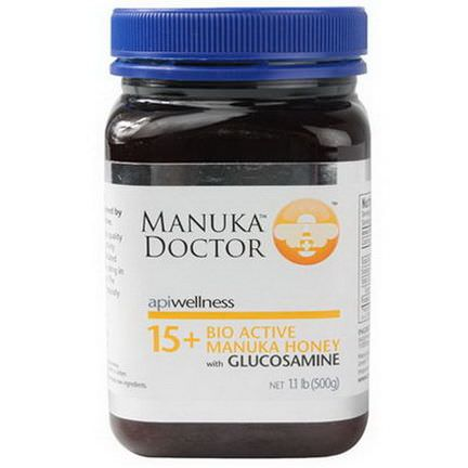 Manuka Doctor, Apiwellness, 15+ Bio Active Manuka Honey with Glucosamine 500g