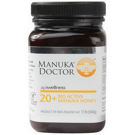 Manuka Doctor, Apiwellness, 20+ Bio Active Manuka Honey 500g