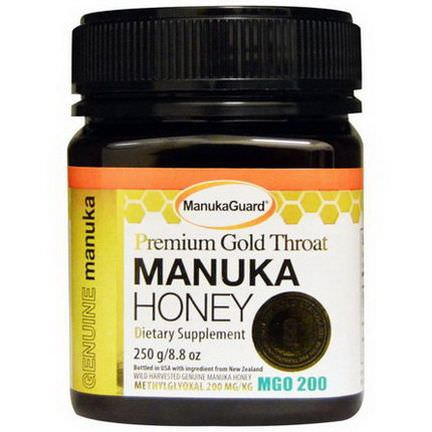 Manuka Guard, Premium Gold Throat, Manuka Honey 250g