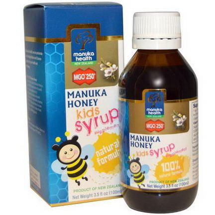 Manuka Health, Manuka Honey Kids Syrup, MGO 250+ 100ml