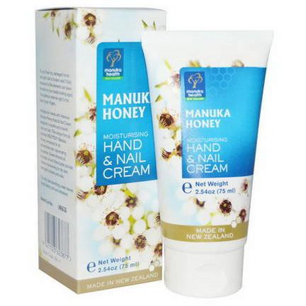 Manuka Health, Manuka Honey, Moisturizing Hand&Nail Cream 75ml