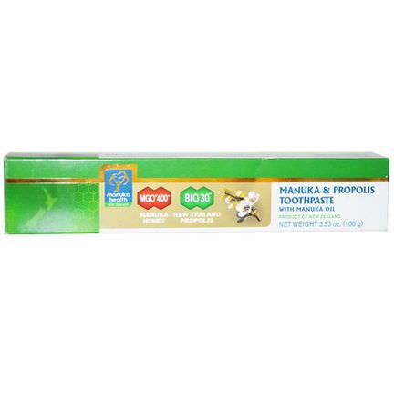 Manuka Health, Manuka&Propolis Toothpaste With Manuka Oil 100g
