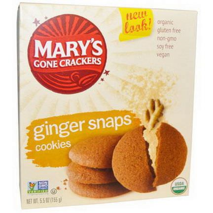 Mary's Gone Crackers, Cookies, Ginger Snaps 155g