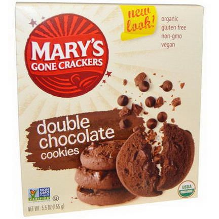 Mary's Gone Crackers, Double Chocolate Cookies 155g