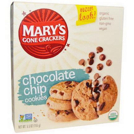 Mary's Gone Crackers, Organic, Chocolate Chip Cookies 155g