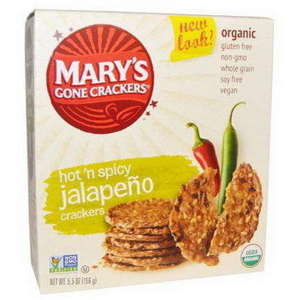 Mary's Gone Crackers, Organic, Hot'n Spicy Jalapeno Crackers 156g