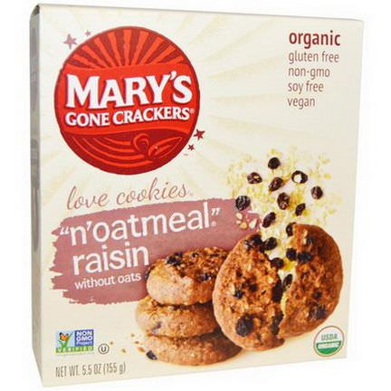 Mary's Gone Crackers, Organic, Love Cookies,