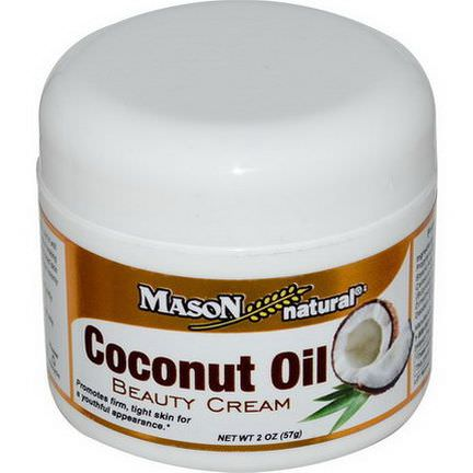 Mason Vitamins, Coconut Oil, Beauty Cream 57g